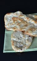 Pain naan à l'oignon frit