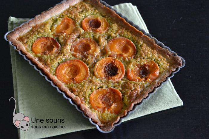 Tarte aux abricots à la crème d'amandes-pistaches