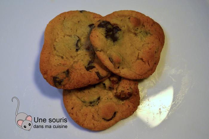 Biscuits aux brisures de chocolat, pacanes et beurre noisette