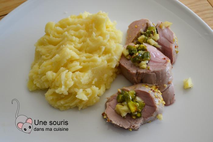 Filet de porc aux pistaches et citron confit