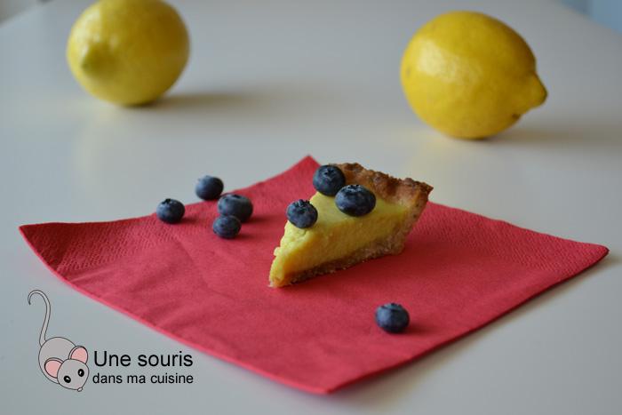 Tarte au citron et aux bleuets sans gluten, sans PLV, sans oeuf