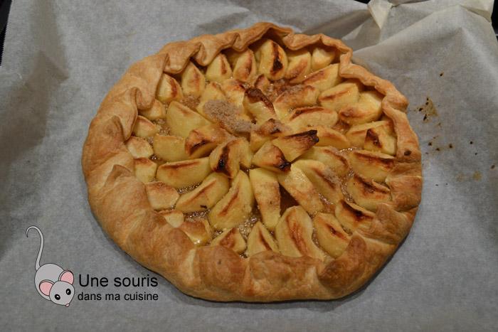 Tarte aux pommes marinées dans le sucre