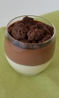 Verrines de crème de noix coco et de mousse au chocolat
