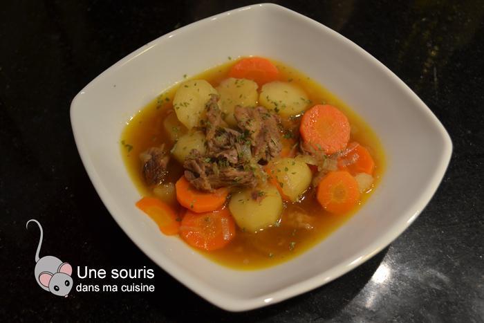 Stew irlandais de rôti de palette de boeuf