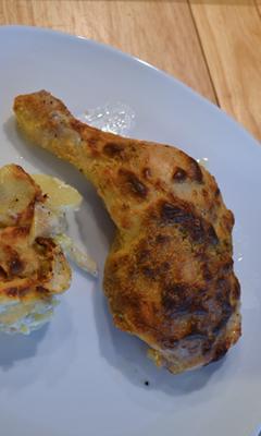 Cuisses de poulet à la moutarde et à la crème