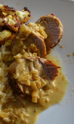 Filet de porc dans une marinade à souvlaki