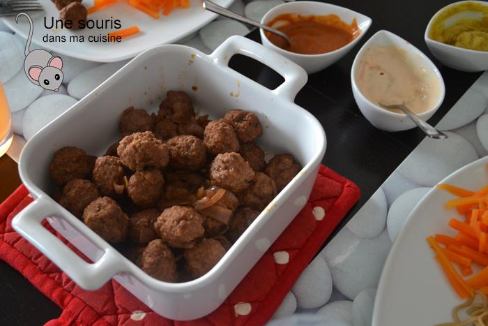 Boulettes de boeuf pour fondue chinoise