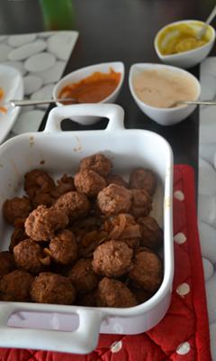 Boulettes de boeuf pour la fondue chinoise